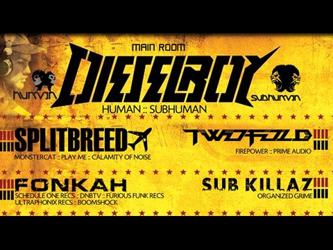 Scheduled Filming @ Spin Nightclub San Diego / Dieselboy, Splitbreed and more