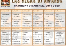 The End - Las Vegas DJ Awards - Voting Ballot