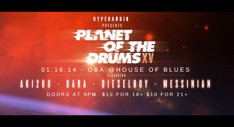 January 16th – Planet Of The Drums