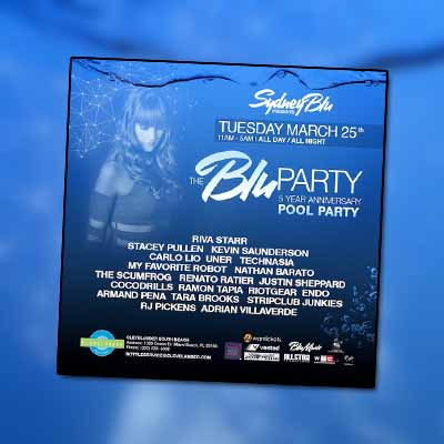 Sydney Blu Announces 5th Anniversary of WMC 'Blu Party'